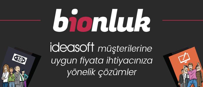 IdeaSoft - Bionluk İşbirliği