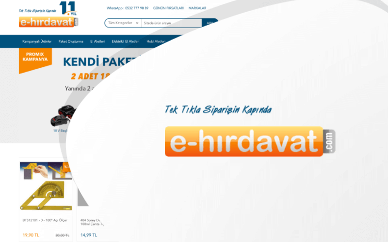 E-Hırdavat E-ticaret Sitesi