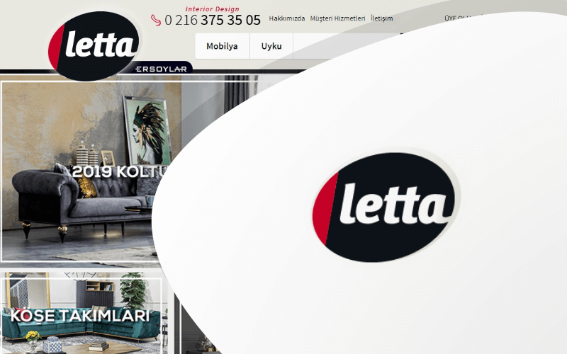 Letta Mobilya E-ticaret Sitesi