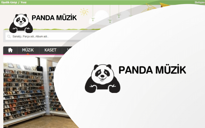 Panda Müzik E-ticaret Sitesi