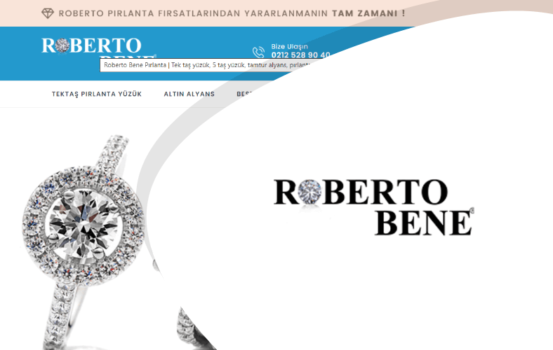 Roberto Pırlanta E-ticaret Sitesi