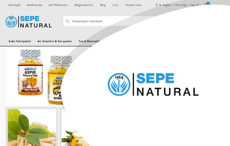 Sepe Natural E-ticaret Sitesi