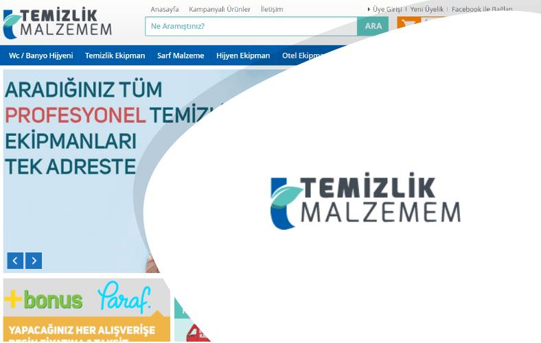 Temizlik Malzemem E-ticaret Sitesi