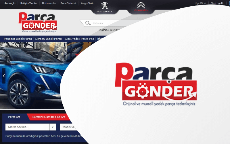 Parça Gönder E-ticaret Sitesi