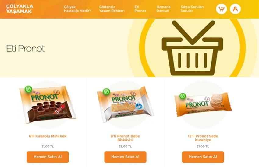 Eti Pronut - Çölyak ürünleri tek ürün grubu sitesi