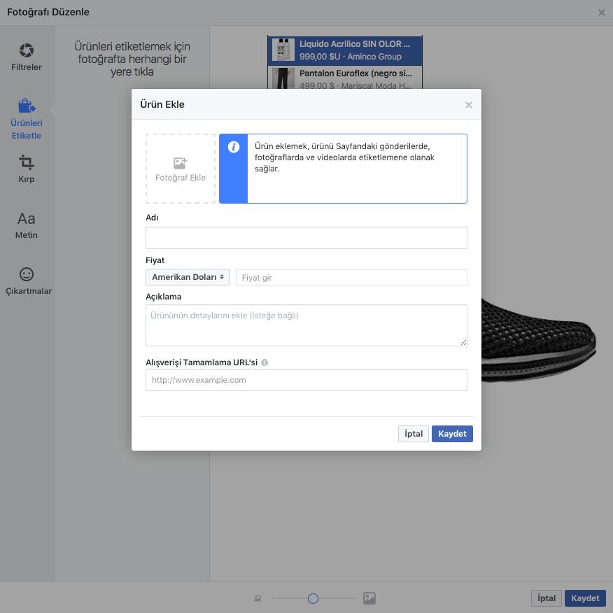 facebook custom urun ekleme 2
