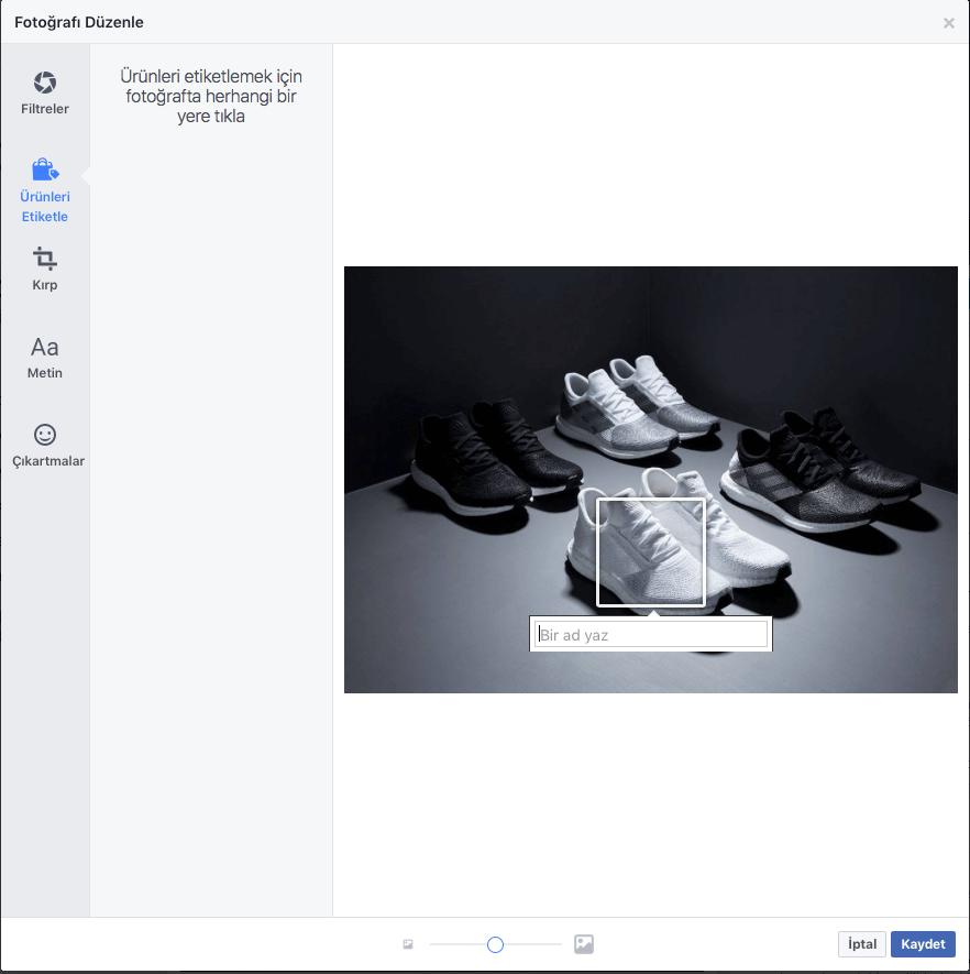 urun etiketleme facebook