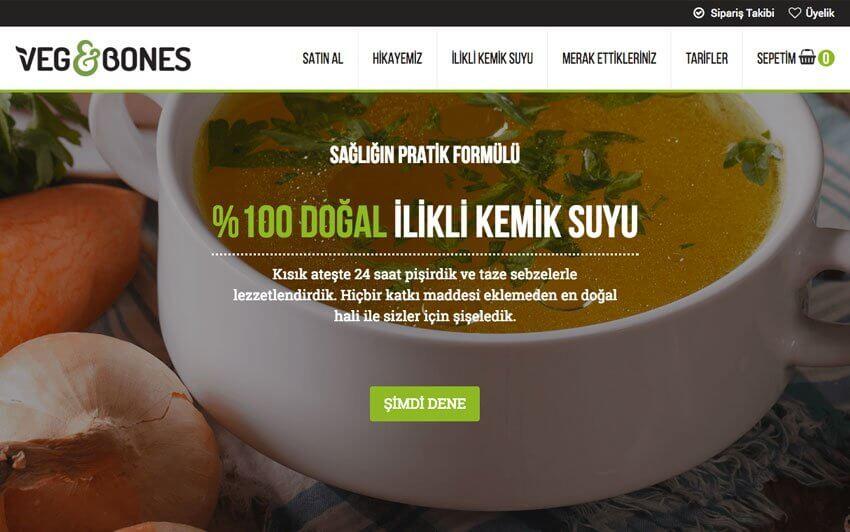 Veg & Bones - Tek Ürün Eticaret Sitesi