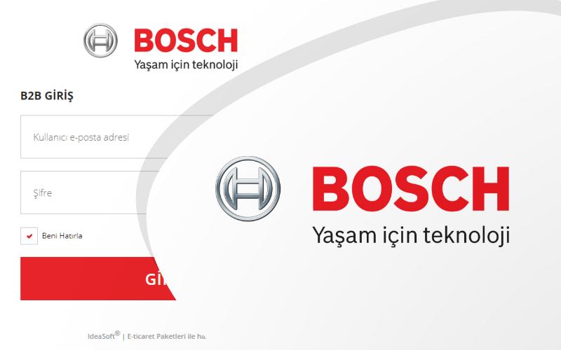 Bosch E-ticaret Sitesi
