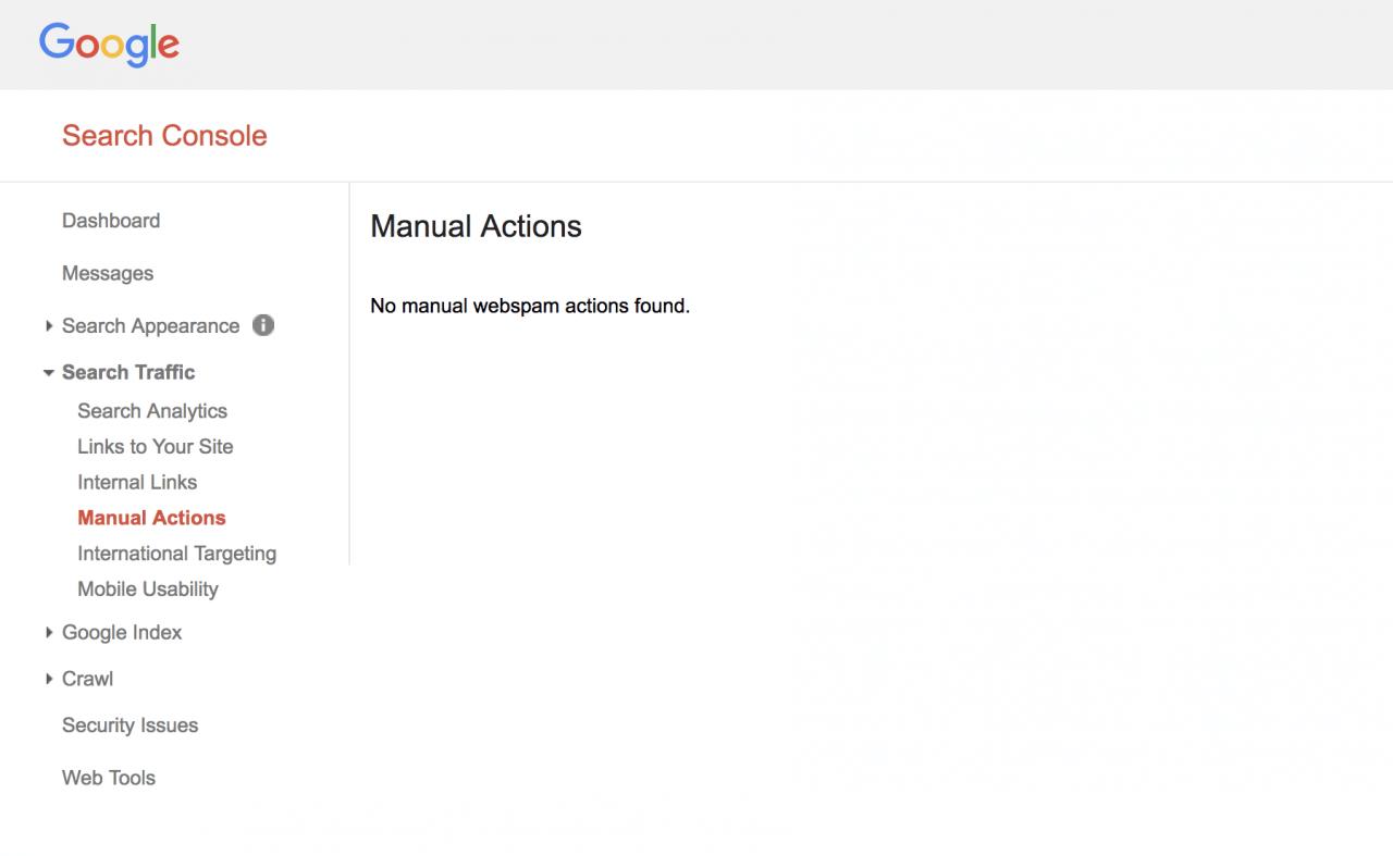 google search console ceza almak