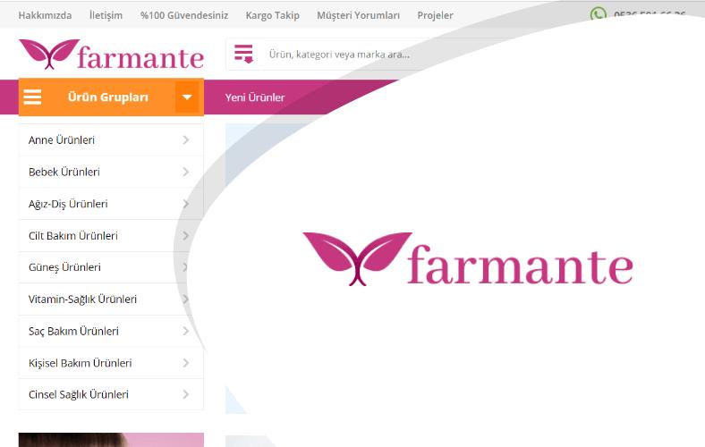Farmante E-ticaret Sitesi