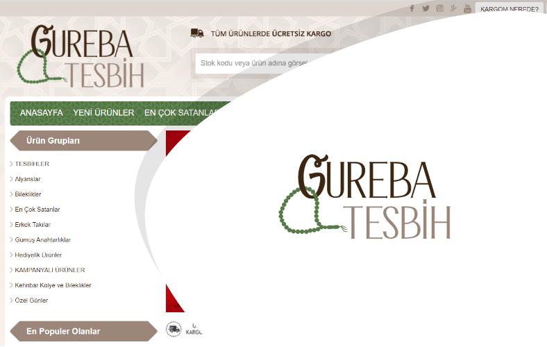 Gureba Tesbih E-ticaret Sitesi