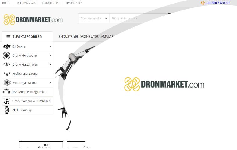 Dronmarket E-ticaret Sitesi