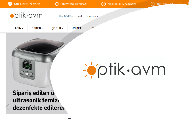 Optik Avm E-ticaret Sitesi