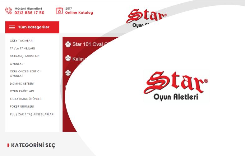 Star Oyun Market E-ticaret Sitesi