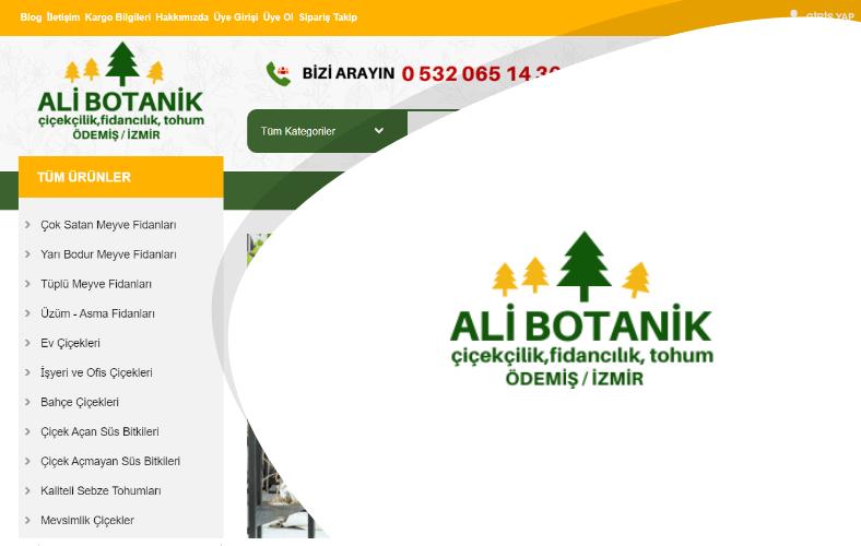 Ali Botanik E-ticaret Sitesi