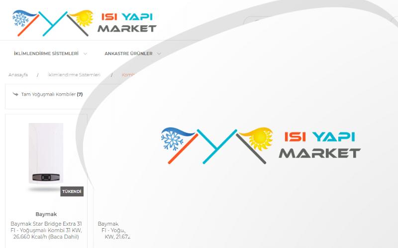 Isı Yapı Market E-ticaret Sitesi