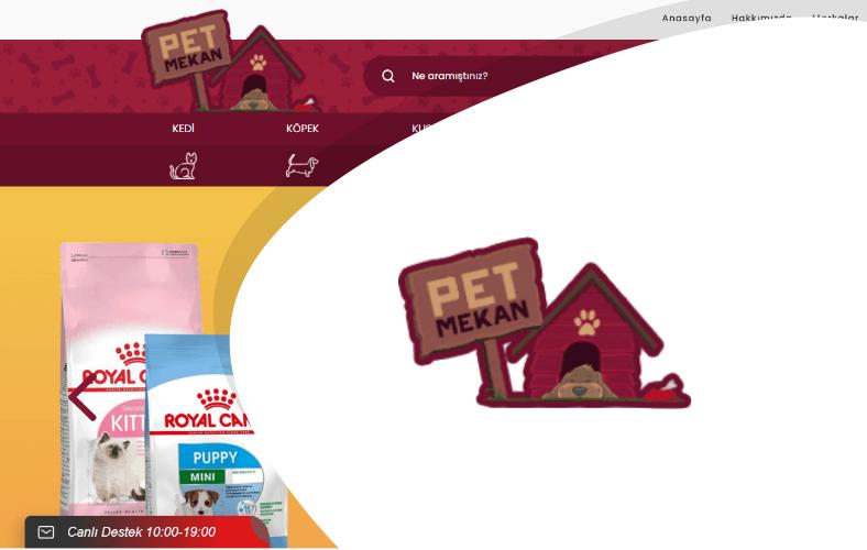 Pet Mekan E-ticaret Sitesi