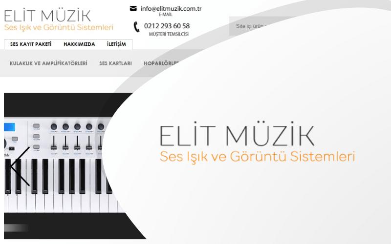 Elit Müzik E-ticaret Sitesi