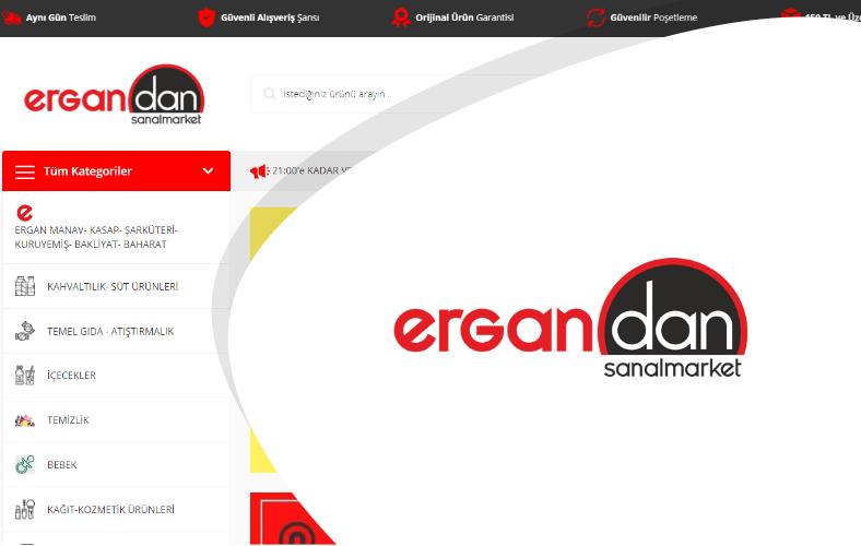 Ergandan Sanal Market E-ticaret Sitesi