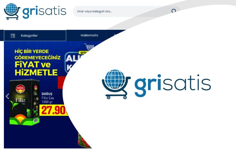 Gri Satış E-ticaret Sitesi