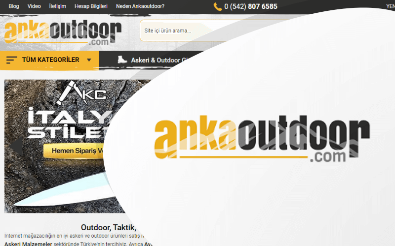 Anka Outdoor E-ticaret Sitesi