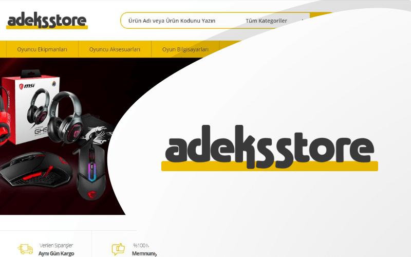 Adeks Store E-ticaret Sitesi