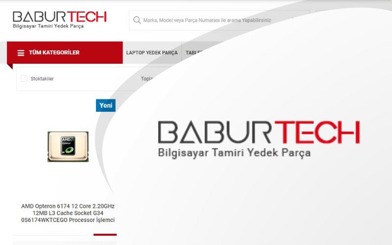 Babur Tech E-ticaret Sitesi