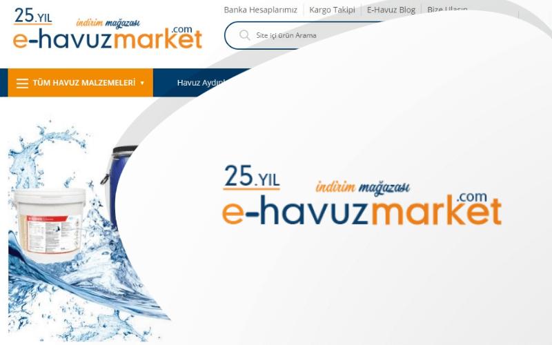 E-Havuz Market E-ticaret Sitesi