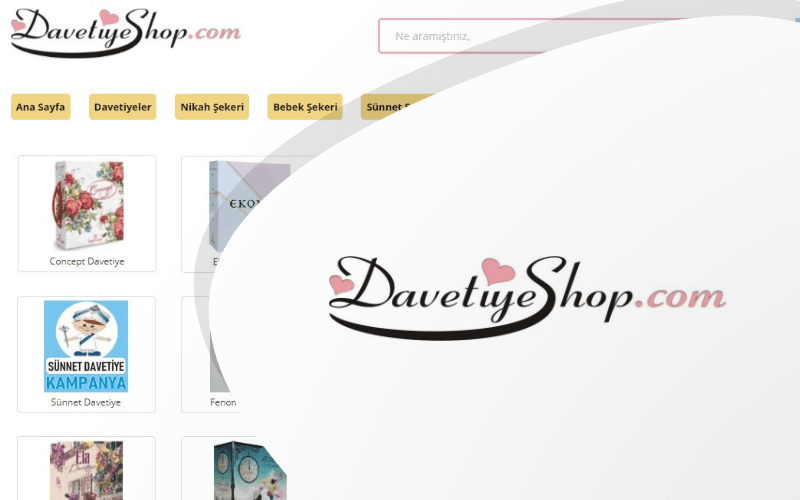 Davetiye Shop E-ticaret Sitesi