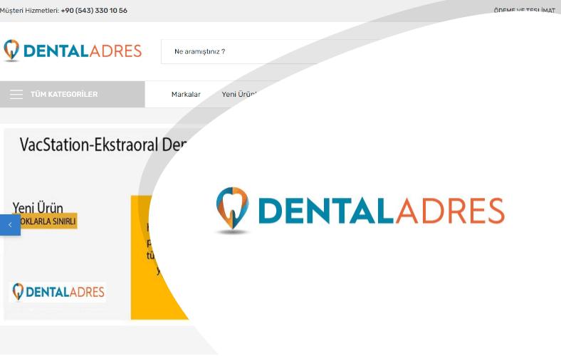 Dental Adres E-ticaret Sitesi