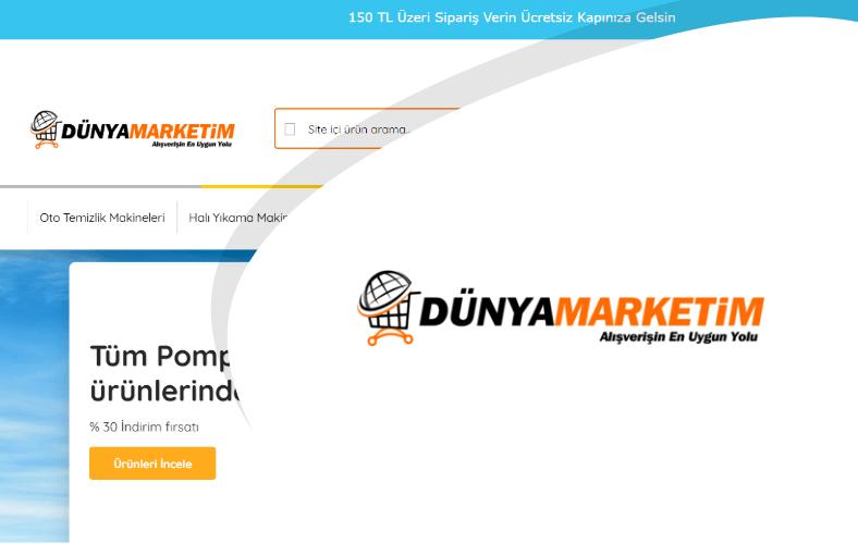 Dünya Marketim E-ticaret Sitesi