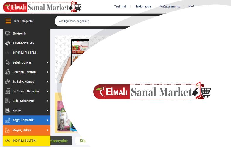 Elmalı Sanal Market E-ticaret Sitesi