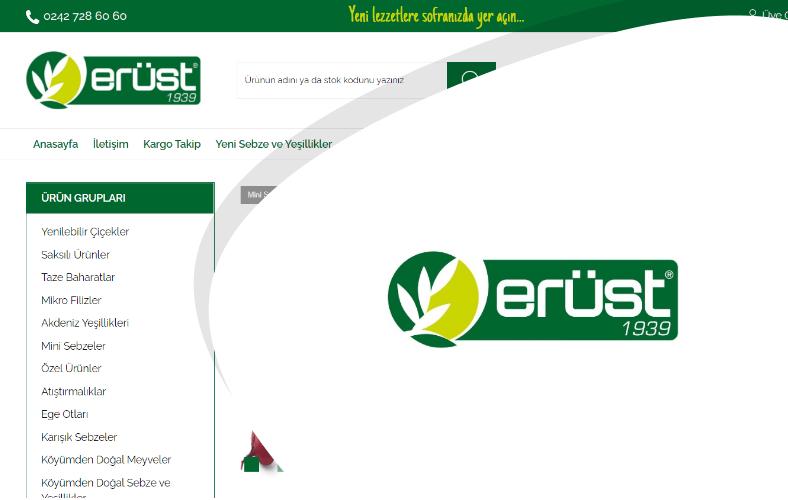 Erüst Online E-ticaret Sitesi