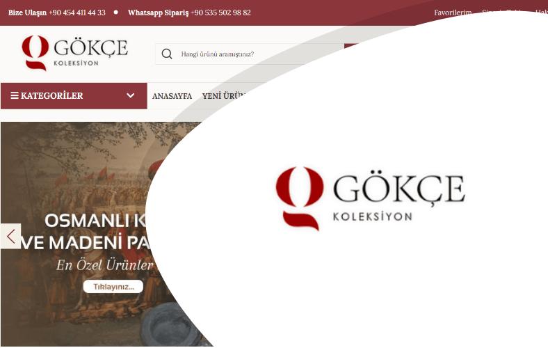 Gökçe Koleksiyon E-ticaret Sitesi
