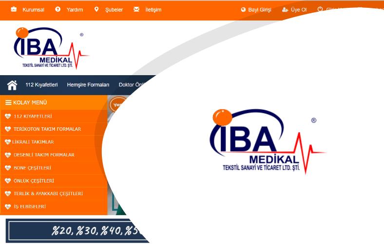 İba Medikal E-ticaret Sitesi