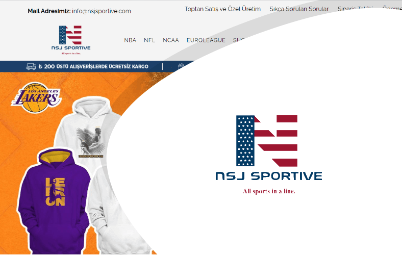 NSJ Sportive E-ticaret Sitesi