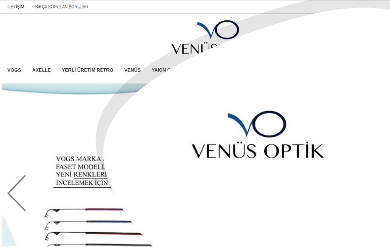 Venüs Optik E-ticaret Sitesi
