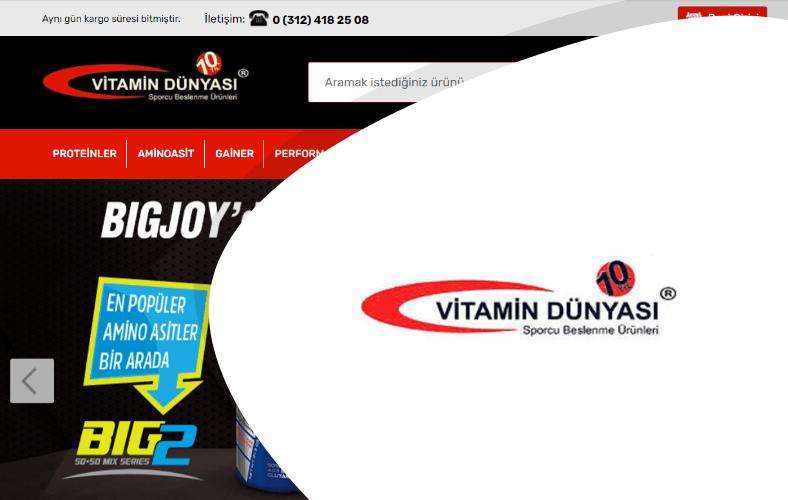 Vitamin Dünyası E-ticaret Sitesi
