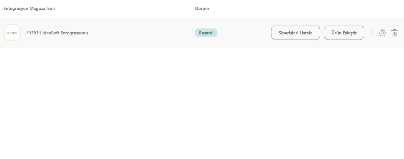 Sipariş Listeleme Ekranı