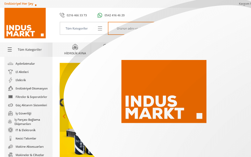 İndusmarkt E-ticaret Sitesi
